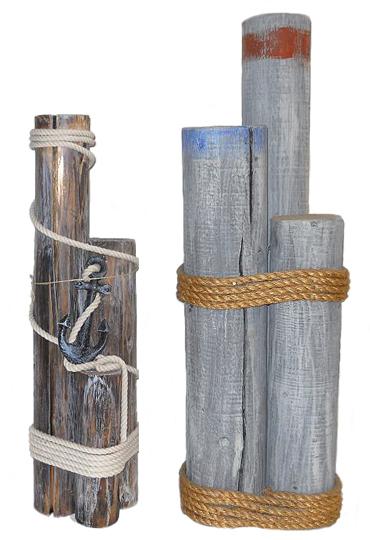 Oceanic arts catalog nautical dockside decor dock pilings cargo