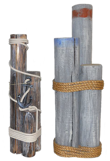 Oceanic arts catalog nautical dockside decor dock for Dock pilings cost